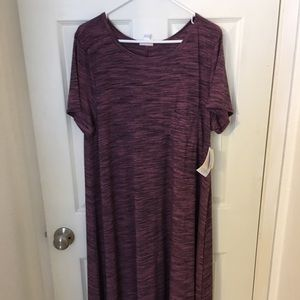 NEW LuLaRoe Carly dress - XL - Pink/Lavender